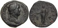 Hadrianus (117-138). As. FELICITAS AVG. RIC-803